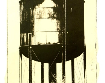Water Tower-etching