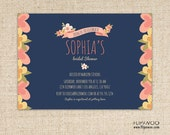 Flower Birthday or Shower Invitation by FLIPAWOO  - Customized Printable File