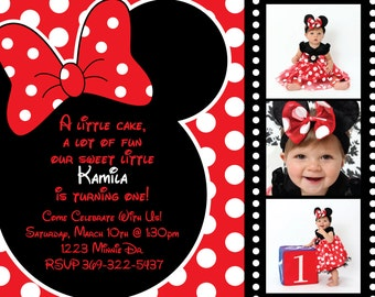 Minnie Mouse Invitation Background