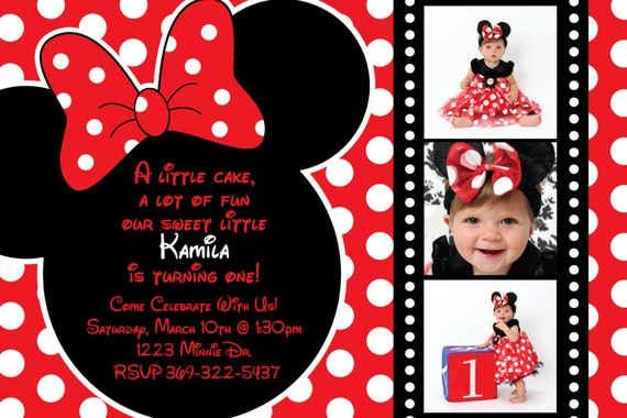 Minnie Mouse Party Invites for best invitation sample
