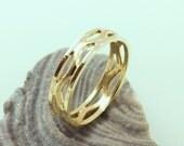 14K Gold  Wedding   Ring -  ElenadE