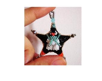 Penguin star - beaded decoration PDF TUTORIAL