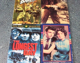 VHS WWII Movies - Set of 4, Robert Taylor, Robert Wagner, Joan Collins
