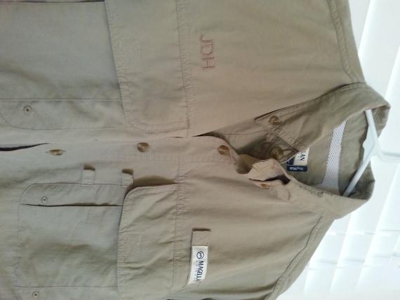 Items similar to mens monogram magellan fishing shirt on etsy for Magellan fishing shirt