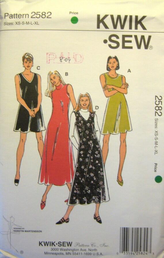 Kwik Knit Patterns : Summer Knit Dress Pattern UNCUT Kwik Sew 2582 by JujuGirlVintage