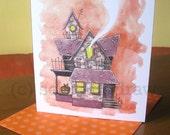 Haunted House Sweet & Spooky Halloween Card