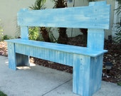 Rustic Kitchen Seating, Wooden Bench, Country Cottage, Lake House Furniture, You Choose Color