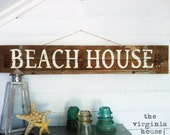 Beach House Wood Sign Primitive and Rustic
