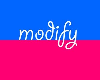 Modification fee