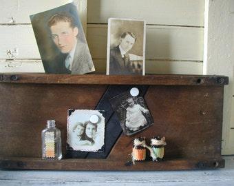Vintage Farmhouse Kitchen Decor Wood Metal Kraut Cutter Magnetic Note Display Board