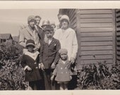 Family Wearing Hats - Vintage Photograph (G)