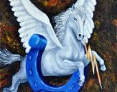 Custom Painting of School Mascot