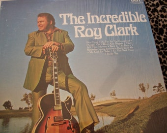 The Incredible Roy Clark, Vinyl LP Record Album, Country Music, Nanas Vintage Shop on Etsy