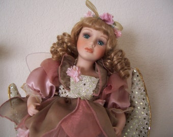 Fairy Doll on the Moon, Porcelain, by Nanas Vintage Shop on Etsy