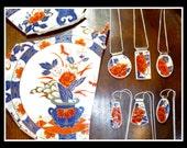 Imari CUSTOM MADE recycled broken heirloom CHINA Jewelry - Reserved for Katie
