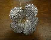 Special Hand-Wired Swarovski Stoned Flower Pin.  Absolutely Magnificent.  Put together 1 stone at a time!