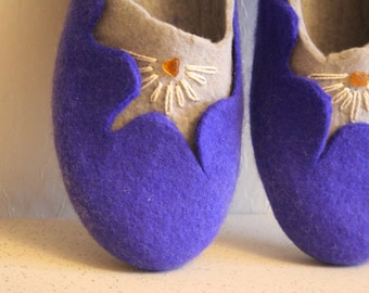 Handmade women slippers - house shoes, felted slippers, wool slippers Amber - handmade - wool shoes - Easter day gift, Easter gift