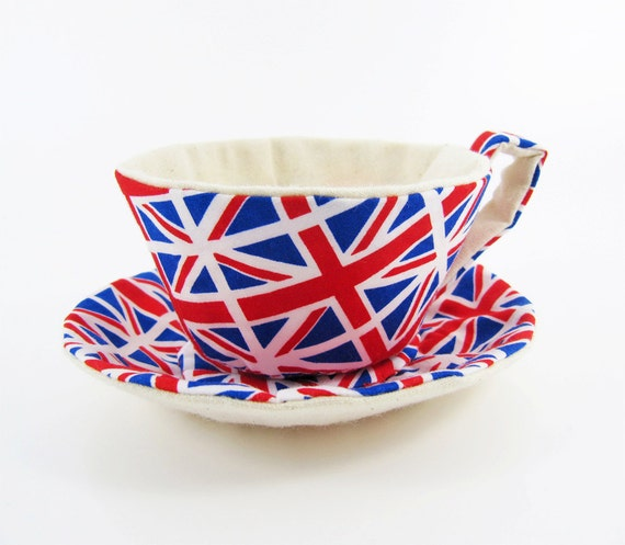 Textile Teacup Tidy-UNION JACK FLAG