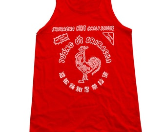 Sriracha Hot Chili Sauce Red Tank Top  - ON SALE!