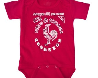 Sriracha Hot Chili Sauce Red Toddler Shirt One Piece BodySuit  - ON SALE!