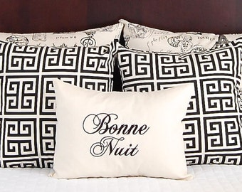 French Script Pillow Etsy