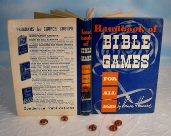 Handbook of Bible Games for All Ages Vintage Hardcover by Vernon Howard Vintage 1950's Book