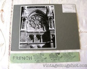 French REIMS  France Basilica of St. Rems  Cathedral Original Rose Window Photograph  Architectural Photo UC Berkeley