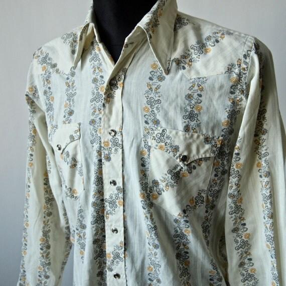 Vintage Wrangler Rockabilly Western Cowboy Shirt Men 39 S
