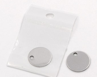 10pc Stainless Steel 20mm Round Blank Stamping Disc