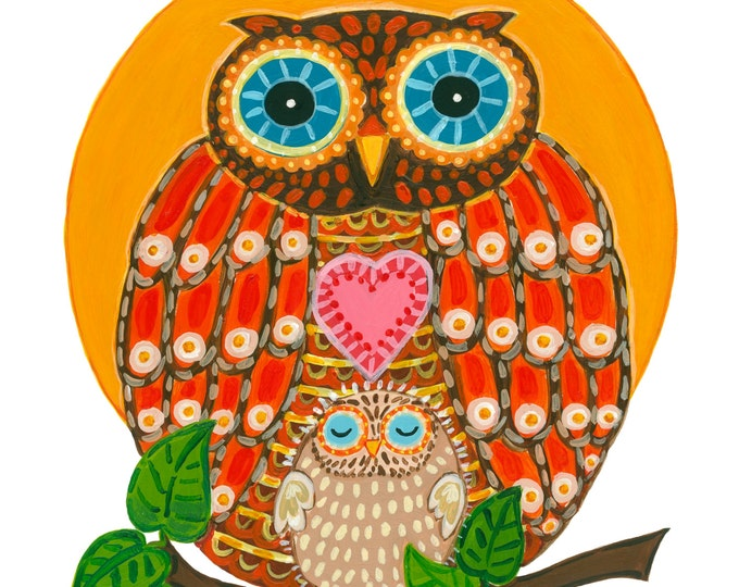 """OWL with Baby Print 10""""X12"""""""
