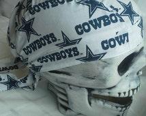 Dallas Cowboys/Skull Cap / hat / du rag / helmet liner/men's accessories/chemo cap/surgical hats/motorcycle/biker/head wrap/team sports/caps