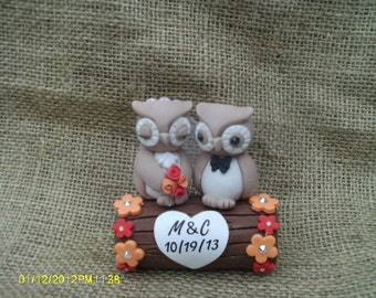 Love Birds On A Park Bench Wedding Cake Topper By
