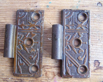 "SIZE 3"" Cast Iron Victorian HALF Hinge for Doors, Eastlake Aesthetic 1800's Authentic Antique Hinge Leaf Repair Parts & Restoration Hardware"
