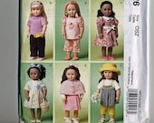 """18"""" Doll Clothes UNCUT McCalls M6526  Wardrobe  Crafts Sew Sewing Pattern American Girl Doll"""