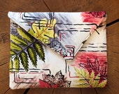 Vintage bark cloth iPad Case/Clutch