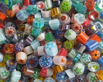 Millefiori Assorted Colors 96 Coe - Millifiori - Fused Glass - Glass Bead - Fused Glass Jewelry - Murrini - Lampwork Bead 3500