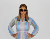 Nelly Don 1970s striped dress