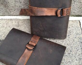 Cortado Journal, handmade journal, travel notebook, refillable, vacation journal, handmade leather journals, notebooks, and travel diaries