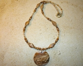 Picture Jasper Pendant Necklace