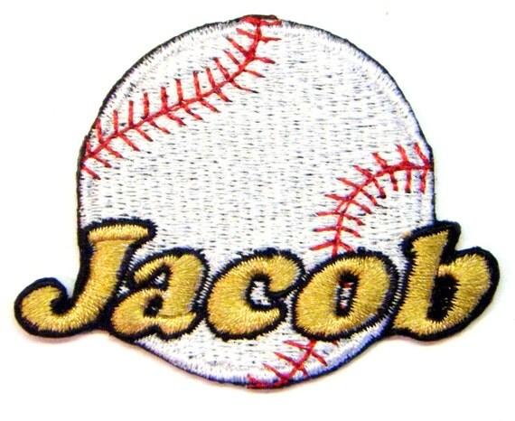 Iron on Patch Baseball Name Personalized Free