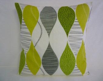 "BIG 22"" Pillow Green Gray Funky Designer Decorative Cotton Cushion Cover Pillowcases Shams Slips"
