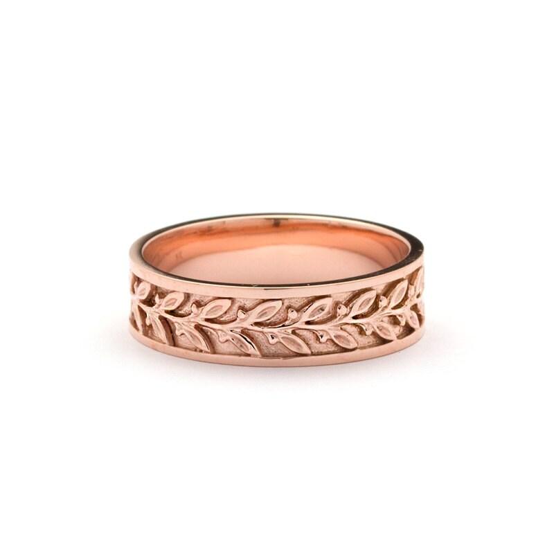 artisan wedding ring nouveau bouquet leaf wedding ring