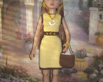Crochet Pattern For Ellowyne Wilde Simple Dress by FatCatDesigns also fits Antoinette and Cami