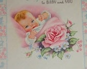 Baby cards, New baby cards, Vintage baby card collection, , mixed media baby nursery, nursery decor,