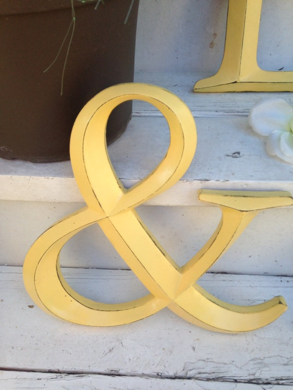 Wall decor ampersand symbol wedding decor for Ampersand decor