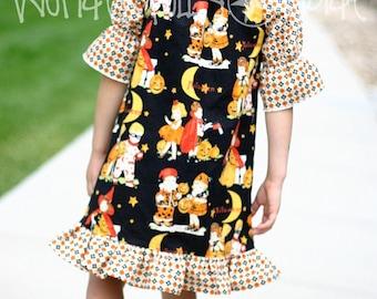Trick or Treat Vintage Halloween Peasant Dress