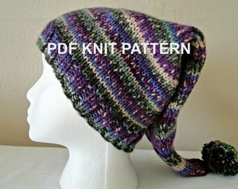 PDF PATTERN Song Bird Knit Stocking Hat in xxs, xs, s, m, l sizes