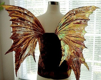 Fairy Wings-Copper Penny-Iridescent Arwen Wings-Adult and Children (Made to Order by Request)