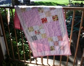 Pink nine patch table runner