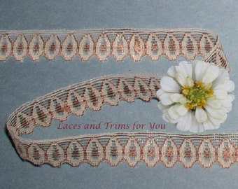Copper/Bronze Lace Trim 14/28 Yards Teardrop 1/2 inch wide Lot N88E Added Items Ship No Charge